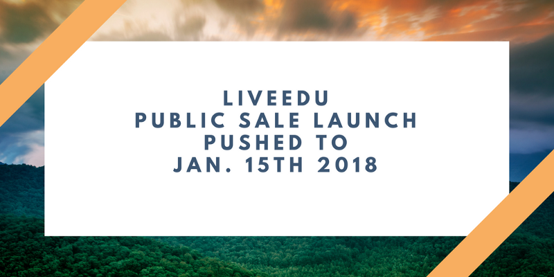 Public Sale Launch Pushed to Jan. 15th 2018   https:// medium.com/liveedu-ico/pu blic-sale-launch-pushed-to-jan-15th-2018-fb34d398dd54 &nbsp; …  #bitcoin #ethereum #ICO #cryptocurrency #education #smartcontracts #finance #stocks #altcoin #tokensale<br>http://pic.twitter.com/mz6O4CjqYc