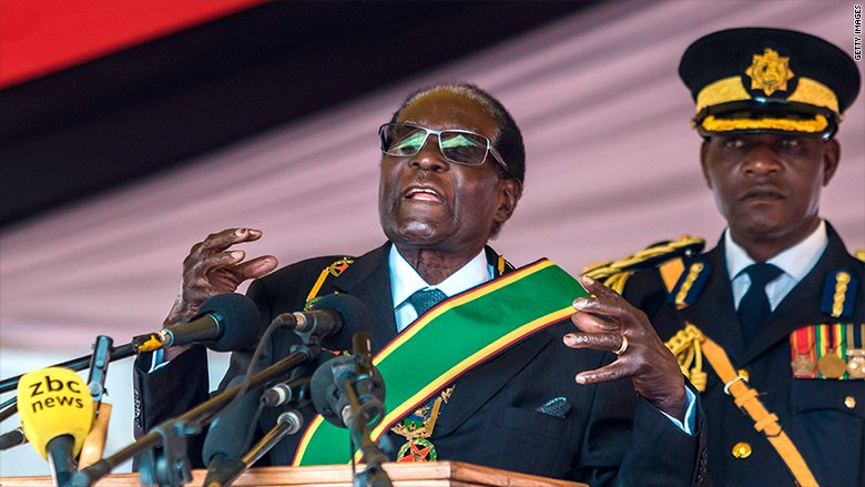 Robert Mugabe led Zimbabwe for nearly four decades -- and is widely blamed for its economic collapse https://t.co/RRPlWoxriI