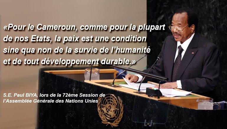 Extrait de mon discours lors de la 72ème Assemblée Générale de l'#ONU. #PaulBiya #AGNU #AGNU72 #Paix #Cameroun