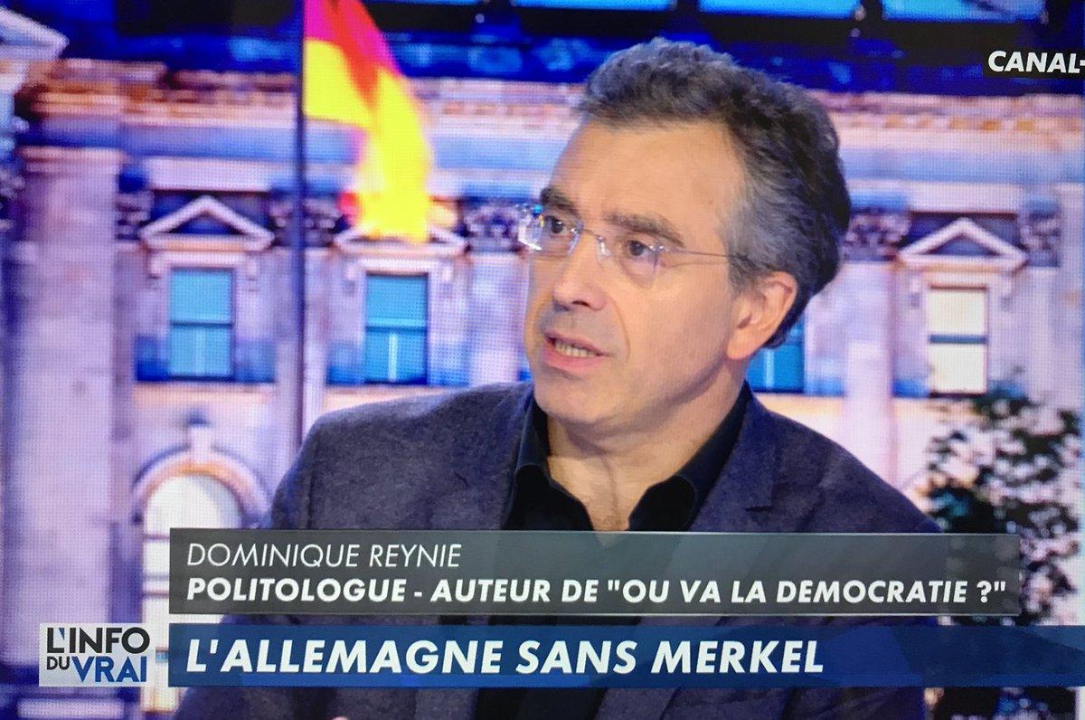 .@DominiqueReynie: «Il n'y a pas d'autres solutions crédibles que d'avancer à l'échelle européenne. #Macron a fait une grande proposition européenne. #Merkel pourra-t-elle y répondre avec une coalition fragile?» #linfoduvrai