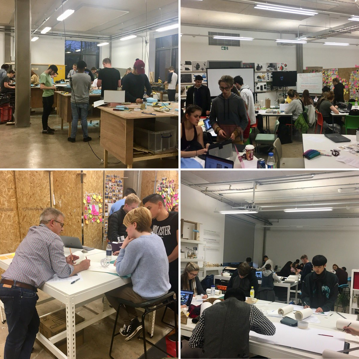 Gr8 2 have the department busy with students from across CSAD activley engaged in transdisiplinary projects #productdesign #wearecardiffmet