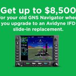 Trade in your old GNS430/480/530 & get up to $8500 towards the purchase of a brand new IFD. Find out how much your's worth: https://t.co/qnTA7aXVDI  #Avidyne #IFR #GeneralAviation #Aviation #Avionics