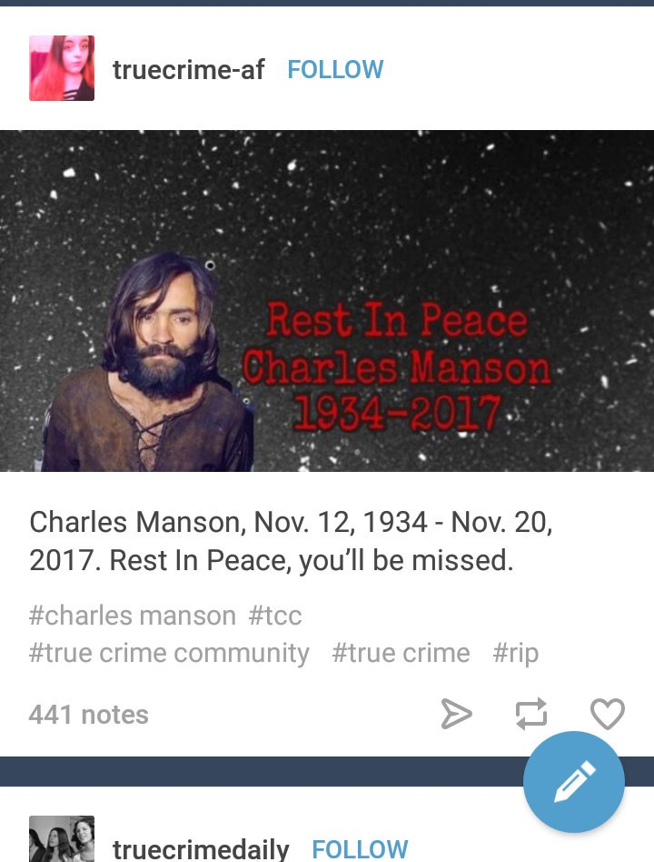 Výsledek obrázku pro true crime community charles manson