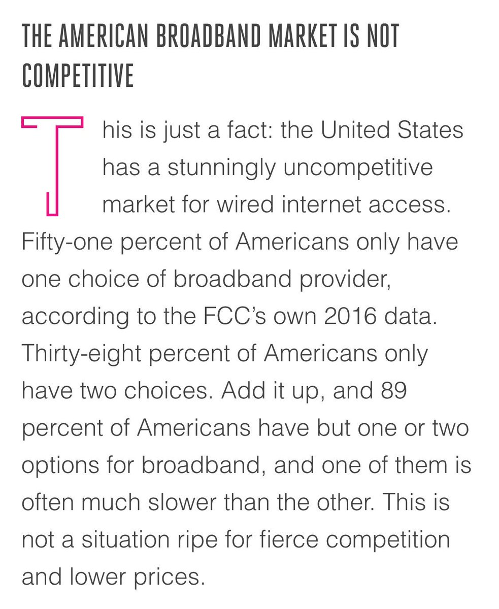 Rolling back net neutrality is a terrible idea built on aggressively ignoring a crucial basic fact. https://t.co/SBquQH8c6B