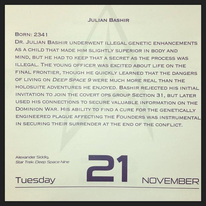 - November 21, 1965 - Happy Birthday Alexander Siddig!