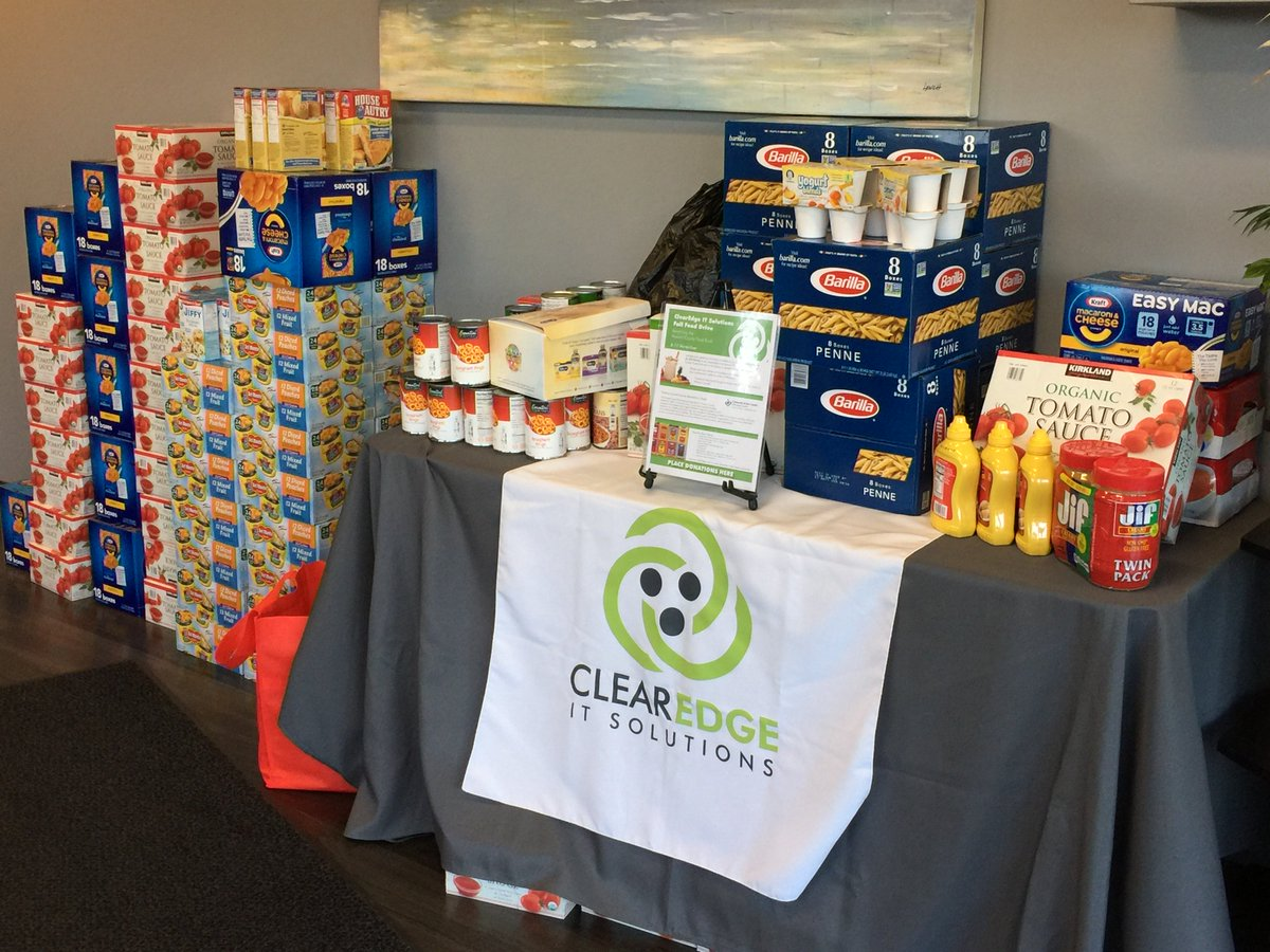 Clearedge On Twitter This Years Clearedge Food Drive Amounted To