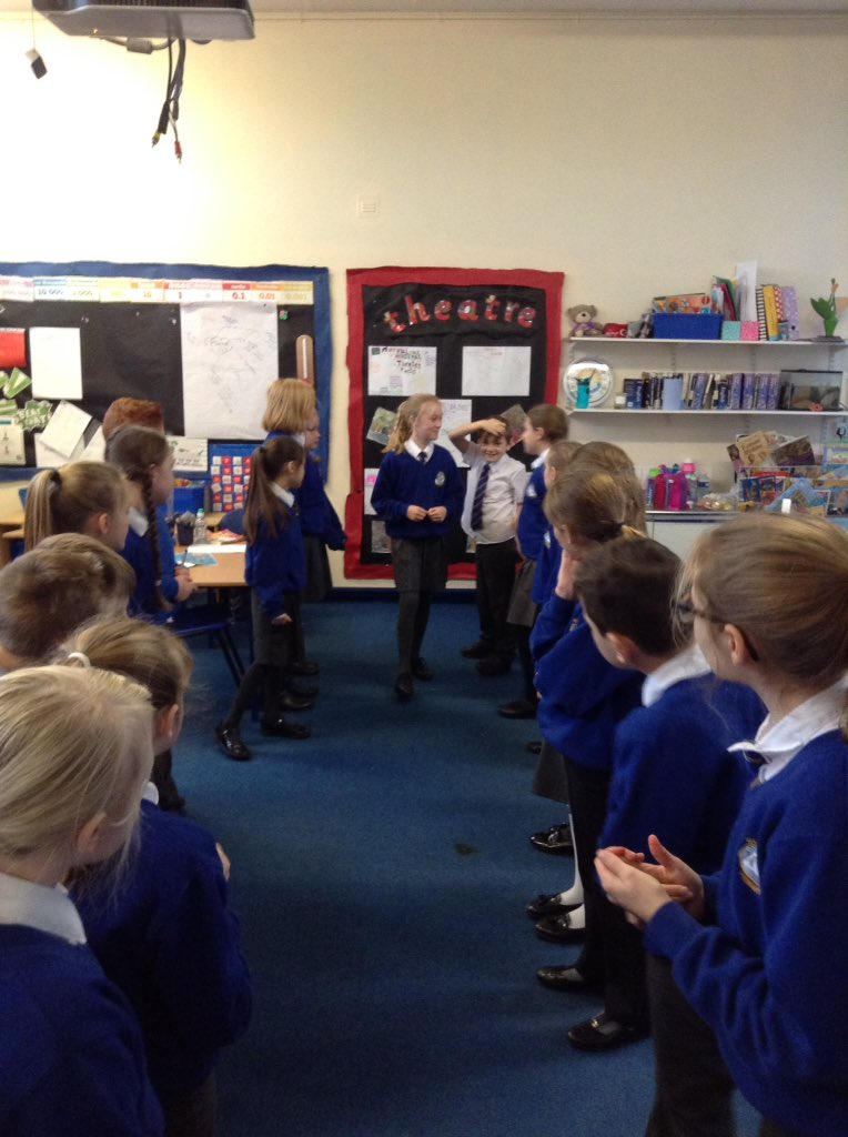 Year 5 are really enjoying the book 'There's a boy in the girls bathroom'. Conscience alley today. #LouisSachar