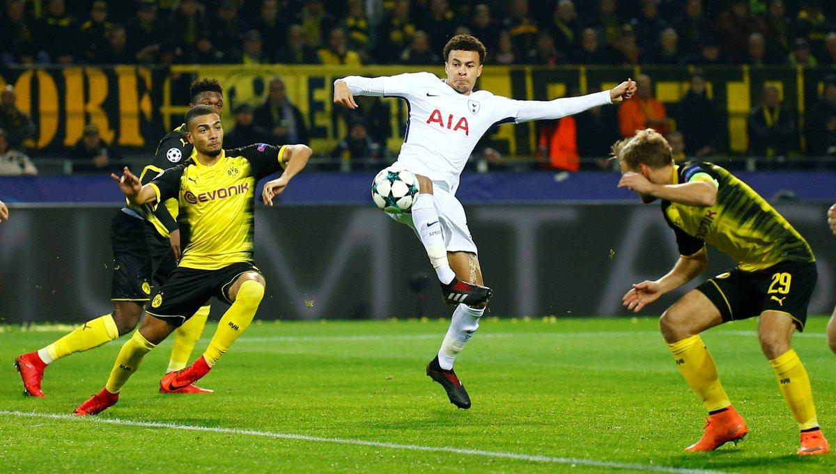 #ASMRBL 19' Début de match équilibré entre Dortmund et Tottenham https://t.co/YXE9N1lorS