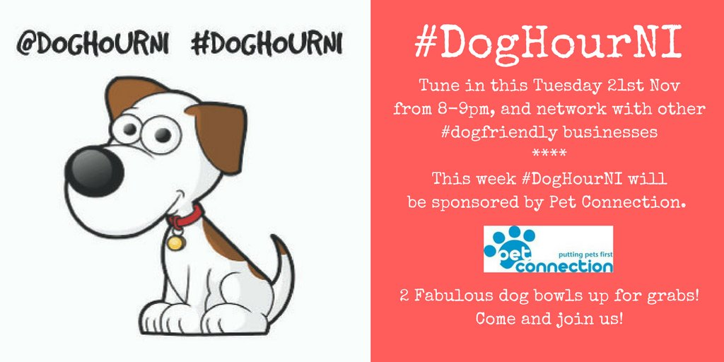 Just 1/2 an hour left of #DogHourNI this evening - keep the tweets coming and join in. #PetConnection