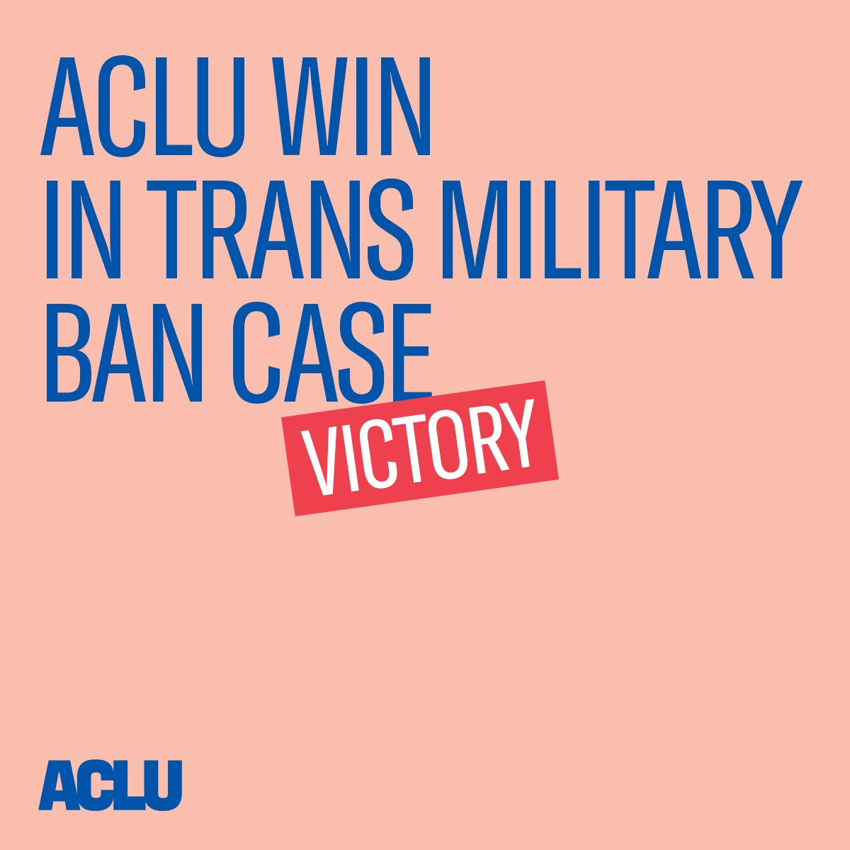 BREAKING: A federal court has ordered a complete halt to implementation of Trump's unconstitutional and discriminatory transgender military ban. #TransMilitaryBan.