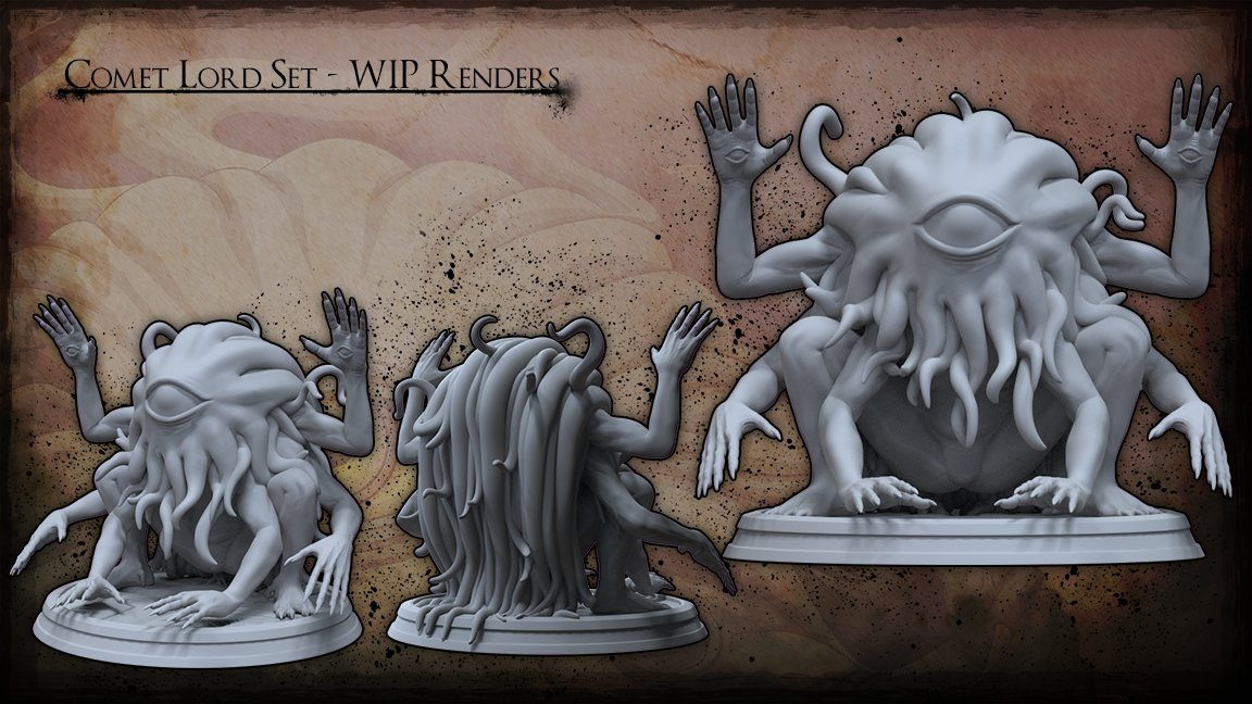 https:// tinyurl.com/y8m5b8ls  &nbsp;   WIP Renders of The Comet Lord miniature!   #miniatures #miniaturepainting #dnd #dnd5e #lovecraft #tabletop #kickstarter #stretchgoal #3dart #zbrush<br>http://pic.twitter.com/RhrAMW8kfd