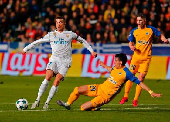 لقطة رائعه من رونالدو تتسبب في الهدف الرابع لريال مدريد في شباك أبويل