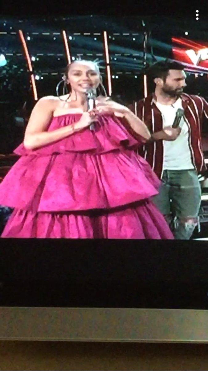 @MileyCyrus  dress choice on #TheVoice r...