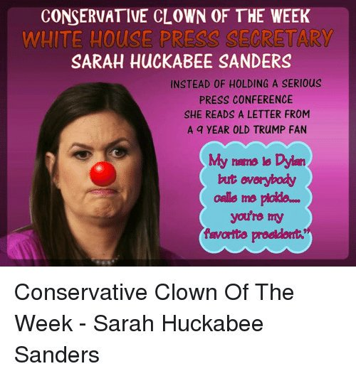 &#39; How Sarah Sanders ,  i heard she drops bars after every press conference &amp; lays down in a tub of ice water to remove what shreds of human emotion she has left #WhiteHouse #CNN<br>http://pic.twitter.com/NqsLsLSa2M