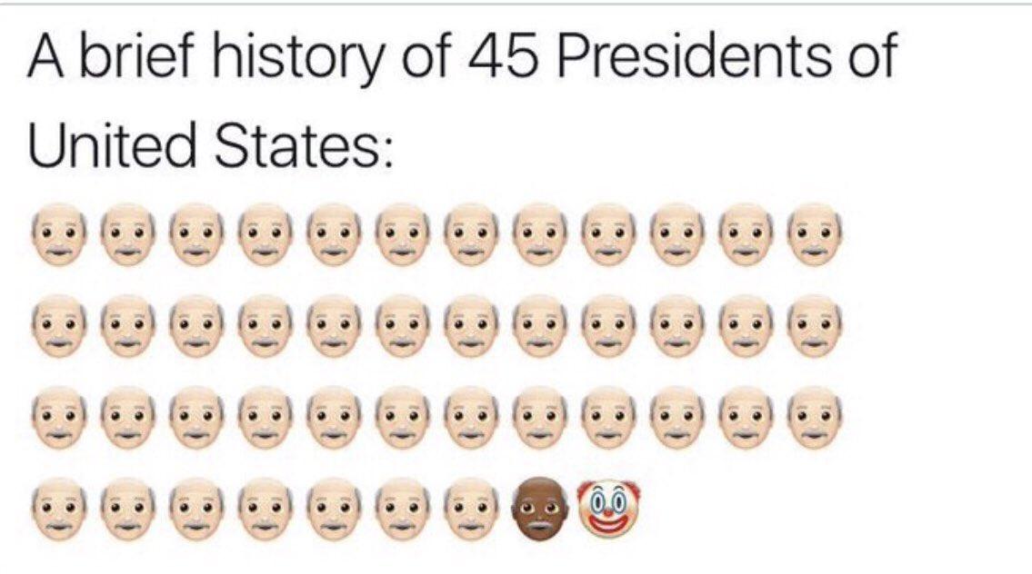 Breve história dos 45 presidentes dos Estados Unidos 👇