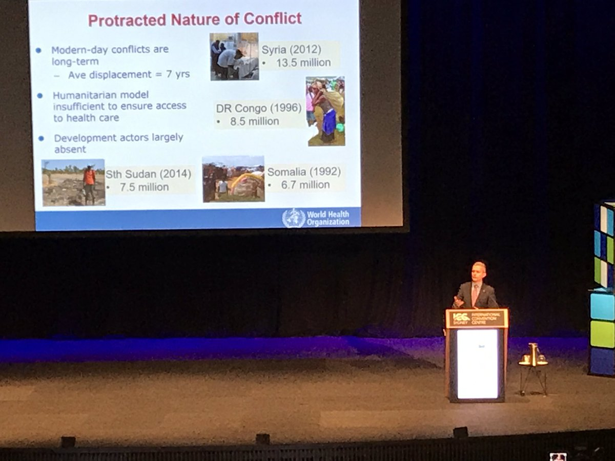 #ACEM17 #syrian civil war has now gone longer than WWII. Create huge challenges for #Healthcare and #WHO. Need new model to provide care <br>http://pic.twitter.com/NJiwDwr1VA