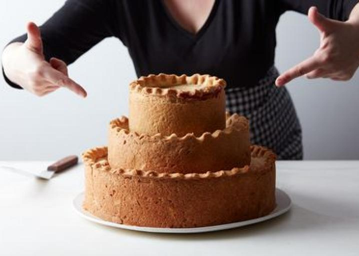 A three-tier pie that's Thanksgiving dinner all-in-one: https://t.co/A6SE1eUGbG