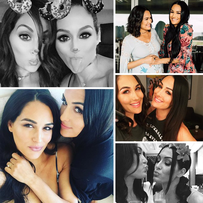 Happy birthday to my Idols Brie Bella  and Nikki Bella I love you guys
