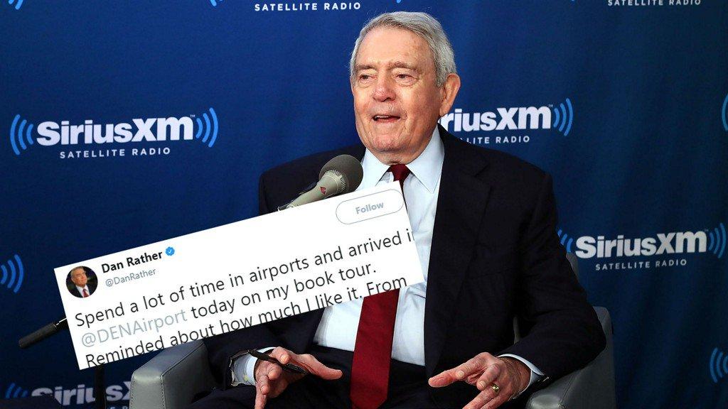Dan Rather loves himself some Denver Intl. Airport https://t.co/0E3sA9KIIz