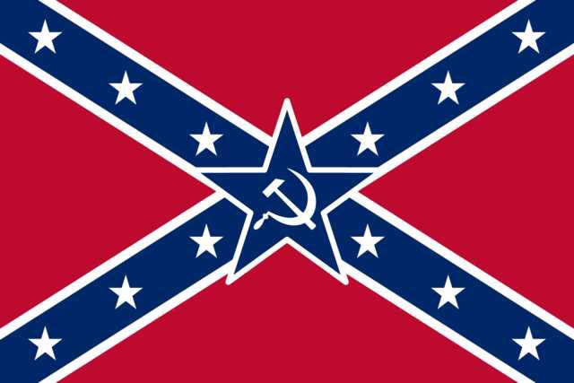 My favorite variation of the confederate flag! Nothing compliments the Stars and Stripes like the Hammer and Sickle! #confederate #southernpride #confederateflag #confederacy #southern #southernheritage #conservative #republican @seanhannity I love you pls respond<br>http://pic.twitter.com/ptHvRHYds2
