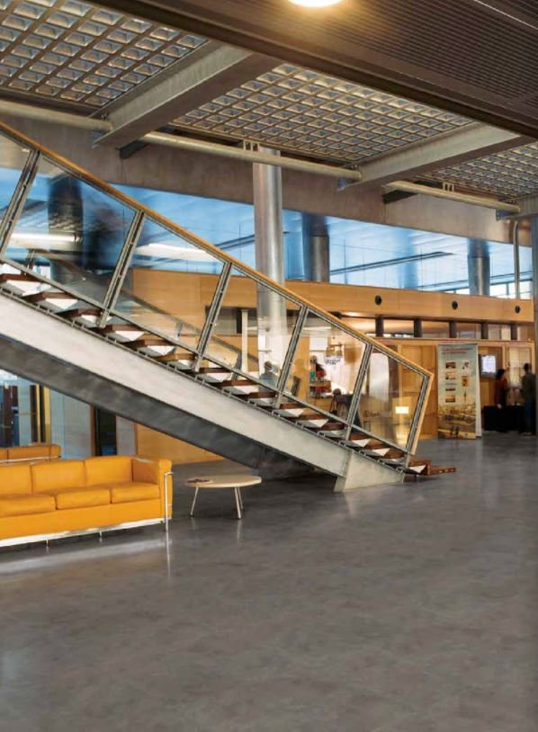 Create a welcoming lobby space for your office design by choosing a contemporary concrete look with the RedDot Award winning Creation LVT https://t.co/bRbNvDUYW9 #InteriorDesign https://t.co/tOrDqCY3te