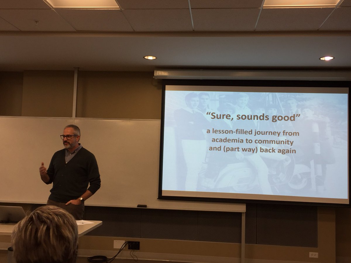 Always key to have academics who take things well beyond the lab! Great talk today @UBC by @cqkmcbride sharing lessons learned from applying his experiences in #academia into the #SCI #community. @ABClabUBCO @HGainforth @sciactioncanada @SCI_BC @ICORD_SCI @rhinstitute @UBCFHSD<br>http://pic.twitter.com/y6nWl4y9vE