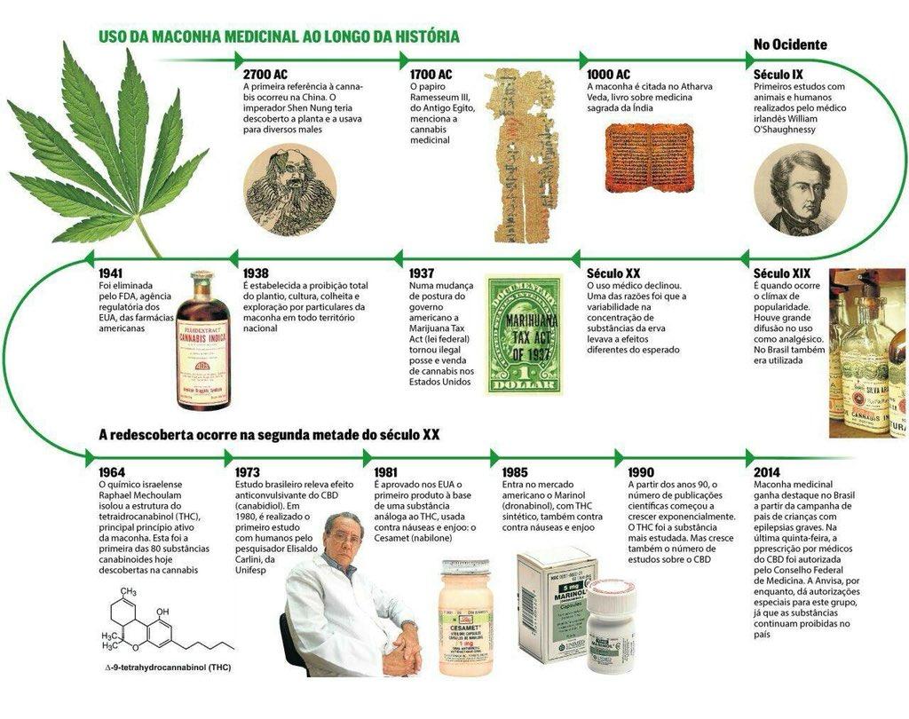 Linha do tempo sobre o uso da maconha medicinal ao longo da história: 👀📈