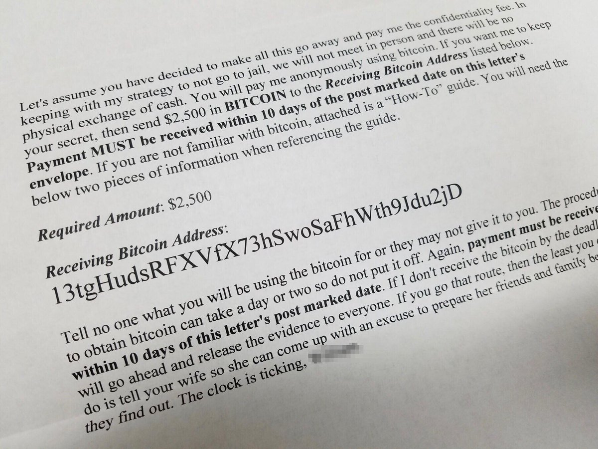 ... appears to be targeting cheating spouses. Is this real blackmail or a  hoax? What police are telling us on @FOX19 NOW at  10.pic.twitter.com/NlBMOZe0DJ