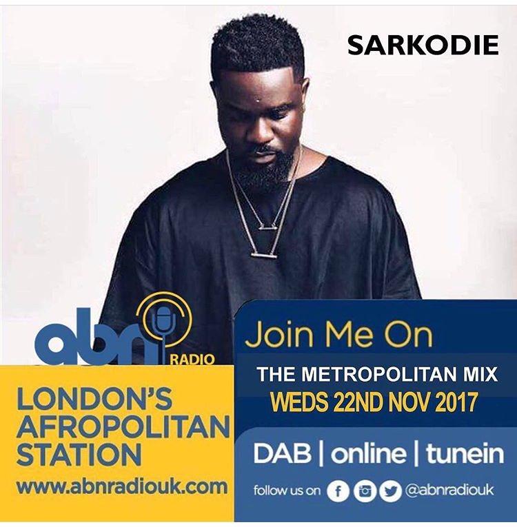 Super excited to have @sarkodie in the studio tomorrow on #metropolitanMix with @sharonbaiden_xo @DaniellaBarnett https://t.co/kRBn77MMhK