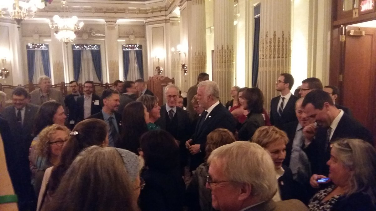 Glad to see @phcouillard making his way to greet the English-speaking community of Quebec with Min. @Kathleen_Weil #assnat #qcpoli<br>http://pic.twitter.com/LrO4VP9pso