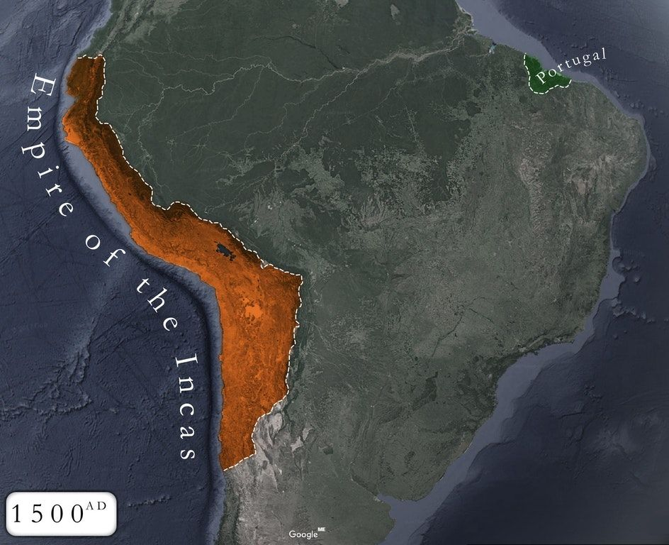 Inca Empire On World Map.Amazing Maps On Twitter The Inca Empire At Its Peak