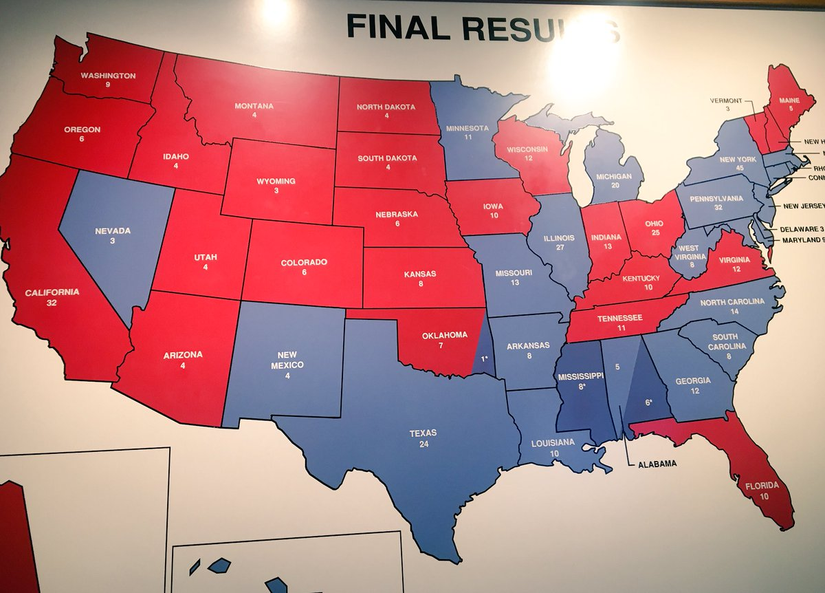 Years Of Electoral College Maps How The US Turned Red And - Current us map