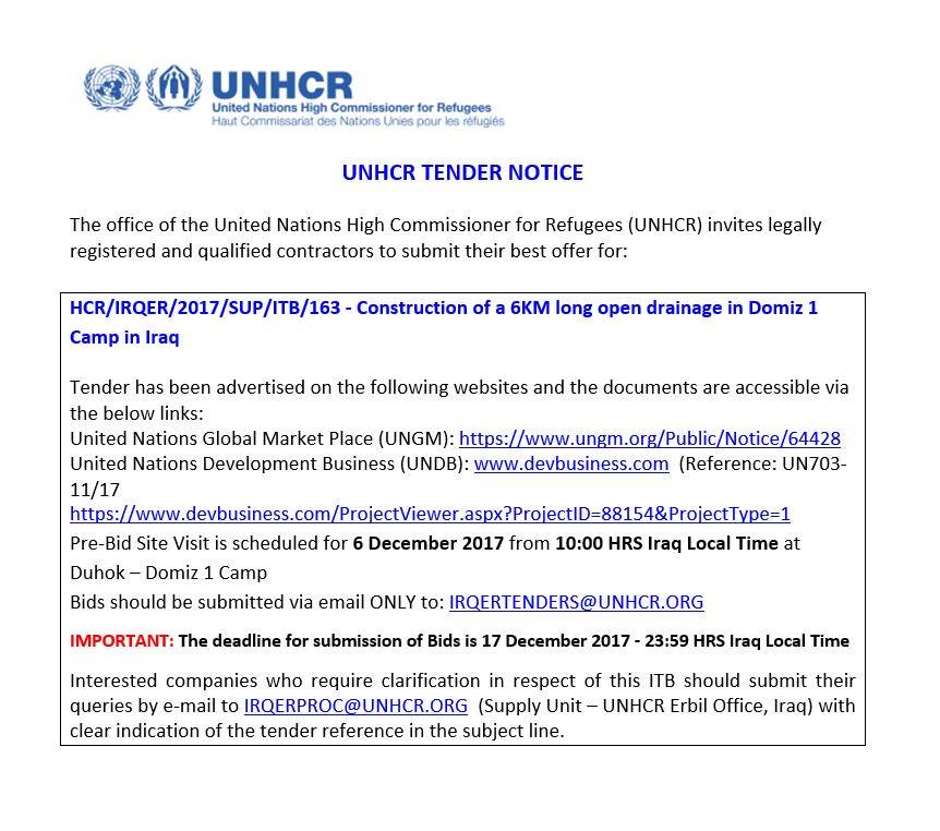 UNHCR SUPPLY IRAQ on Twitter: