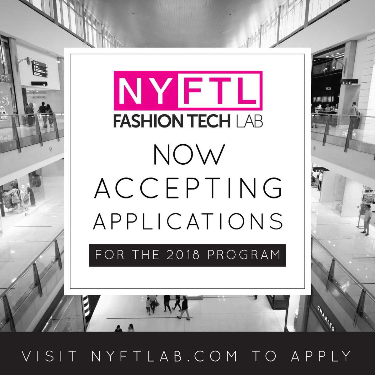 INNOVATING AT THE INTERSECTION OF FASHION, RETAIL, AND TECHNOLOGY    2018 APPLICATIONS ARE NOW OPEN!   @NYFTLab is seeking top women led #fashion tech innovators   To apply  http://www. nyftlab.com  &nbsp;     #FemaleFounders #fashiontech #womenintech #innovation #nonprofit <br>http://pic.twitter.com/rSYTd1aXlP