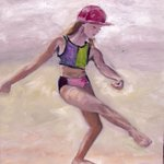 You can always choose to #dance on the #beach #Art #Oils by Julia Grantham