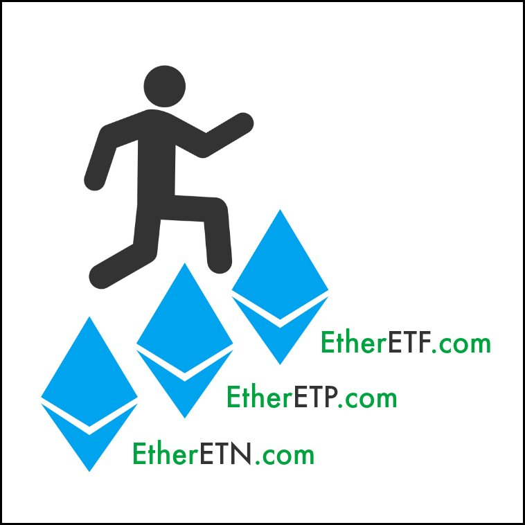 Ether Domain Name Asset Trifecta!  - EtherETF(.com)  - EtherETP(.com)  - EtherETN(.com)  #ETF #ETP #ETN #Ethereum #Ether #Eth $ETH #Bitcoin #BTC #Crypto #Cryptocurrency #Blockchain #ICO #ICOS #PreSale #PreICO #Token #TokenSale #FX #Forex #Trading #Fintech #Stocks #Index #Options<br>http://pic.twitter.com/xhx9Tbyj9J