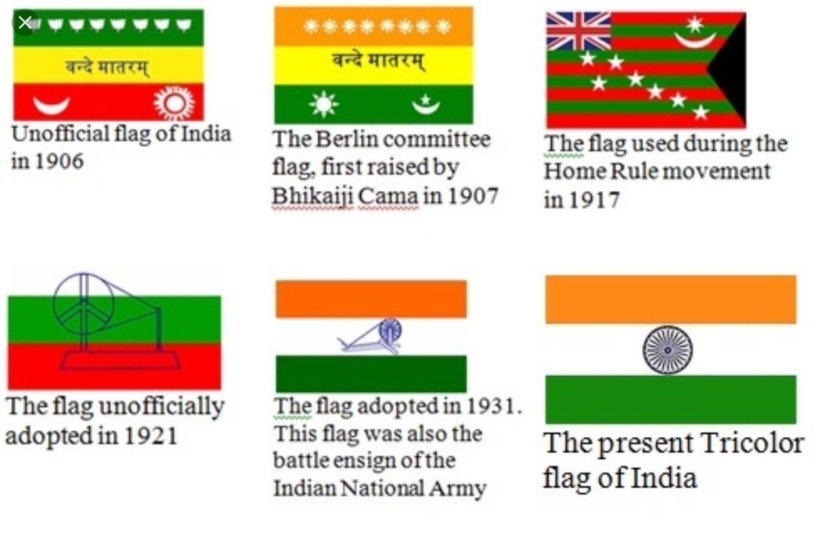 Do you know that Vande Matram was a part of our national flag. Not only its lost its place in the flag, it couldnt become national anthem so India remains a 'secular' country.  #वंदे_मातरम् #wednesdaywisdom <br>http://pic.twitter.com/Yn23ckKAt3