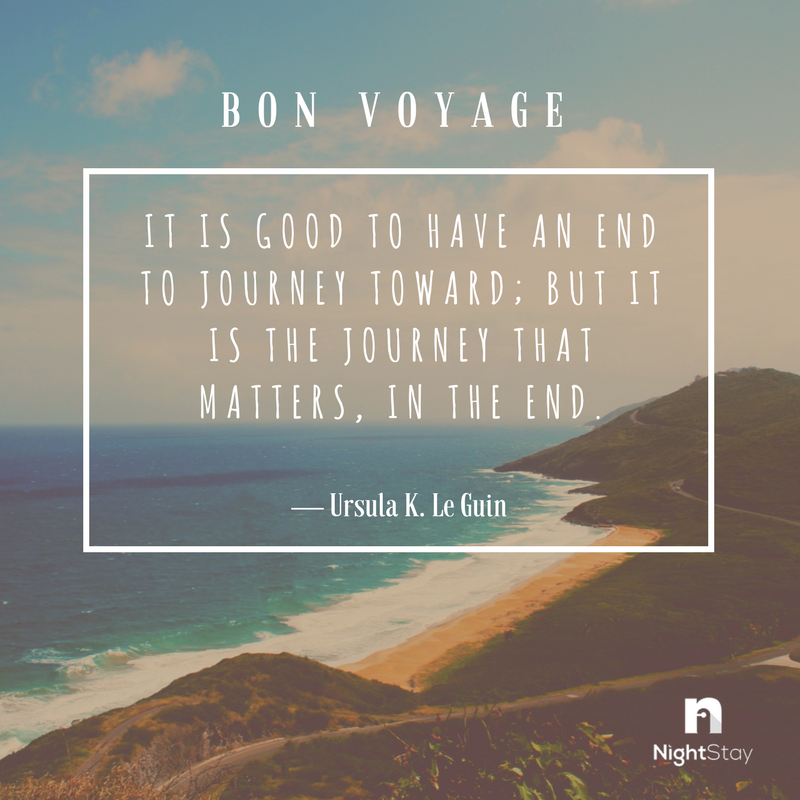 Here&#39;s some #WednesdayWisdom for all the travellers out there. With love from @NightStayApp<br>http://pic.twitter.com/W57slo4jJ8