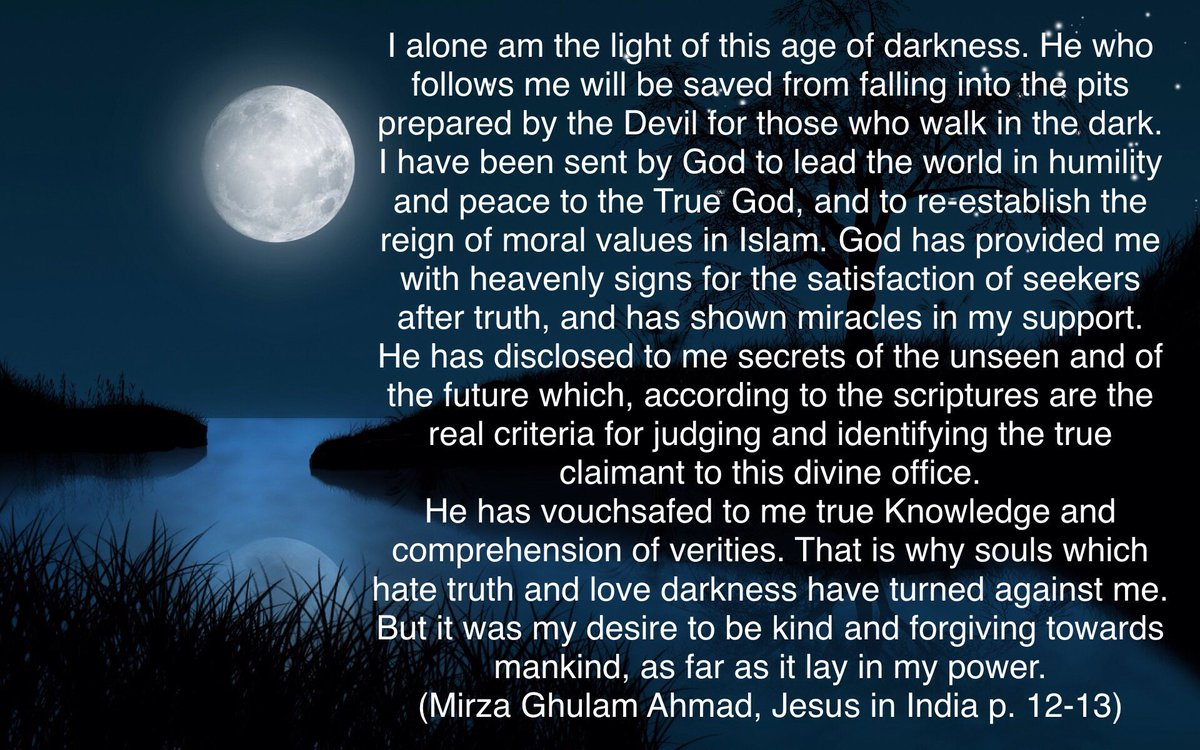 Ahmad of Qadian, the man divinely commissioned to bring humanity back to the One True God.  #Islam #Ahmadiyya #Peace #Love <br>http://pic.twitter.com/jkmXKQ3qqE