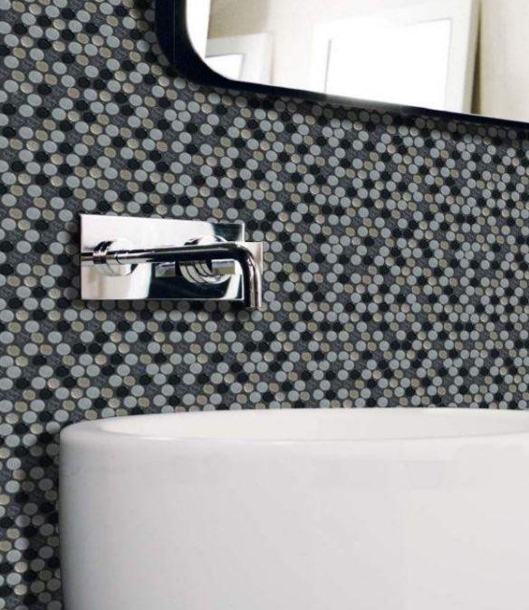 Penny Round Tiles, Mesh Mounted! #interiordesign #designThinking #bathroomdesign #tiles<br>http://pic.twitter.com/5ZDjfA1JIL