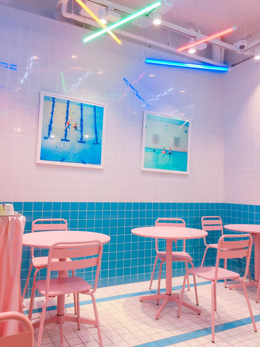 Stylenanda Pink Pool cafe tại Seoul