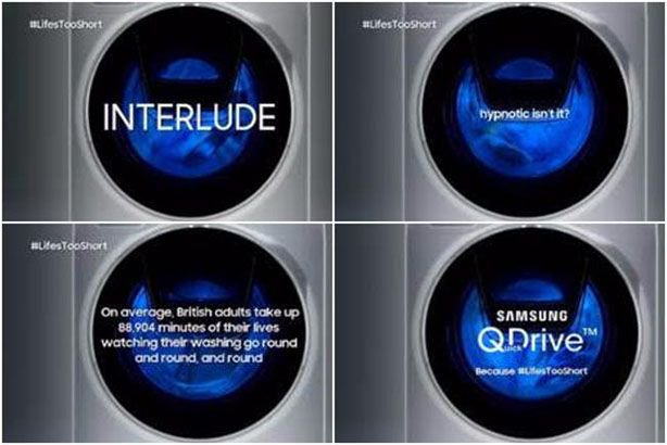 Samsung to show unbroken three-minute shot of a washing machine cycle during Gogglebox:  http:// bit.ly/2BamzcX  &nbsp;   #pr #comms<br>http://pic.twitter.com/Y0S1ddUloT