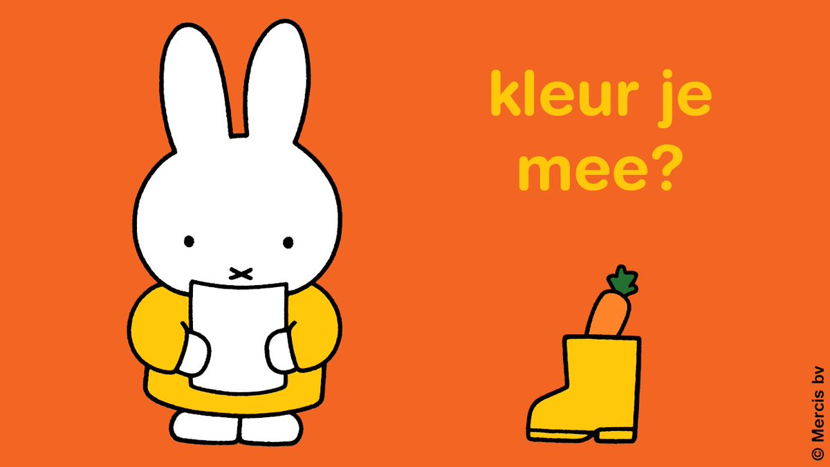 Kleurplaten Printen Nijntje.Nijntje Official On Twitter Een Mooie Nijntje Kleurplaat