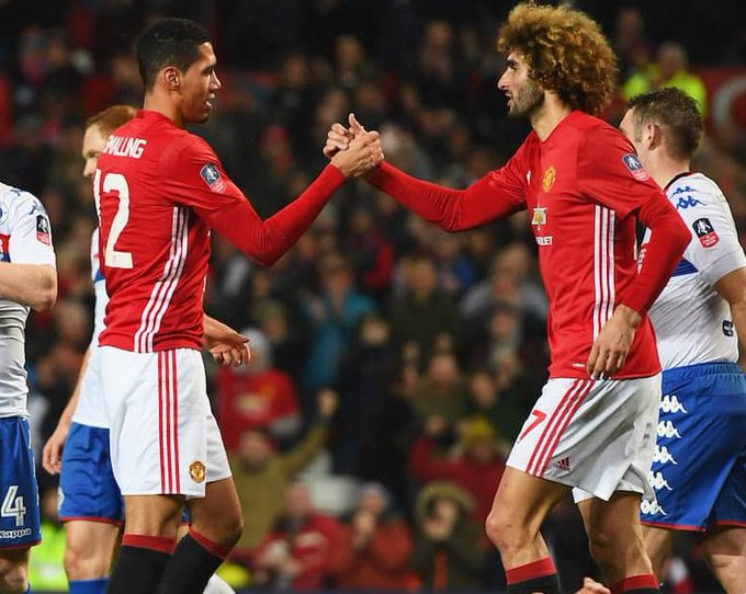 Happy birthday to Manchester United duo Chris Smalling and Marouane Fellaini, who turn 28 and 30 respectively today!