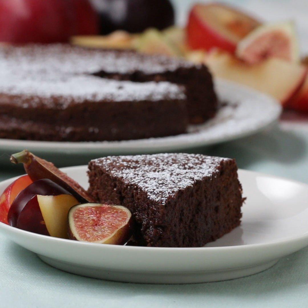 材料2つだけ!簡単チョコレートケーキ #tastyjapan