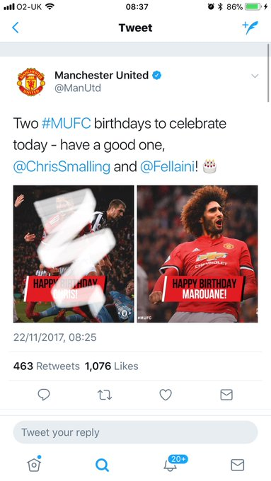One birthday to celebrate today. Happy Birthday, Marouane Fellaini Fellaintree