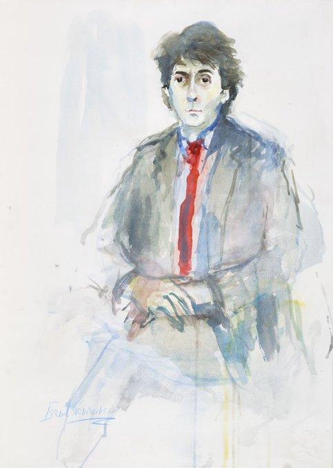 Happy Birthday Tom Conti by Ishbel McWhirter (b.1927) 1985