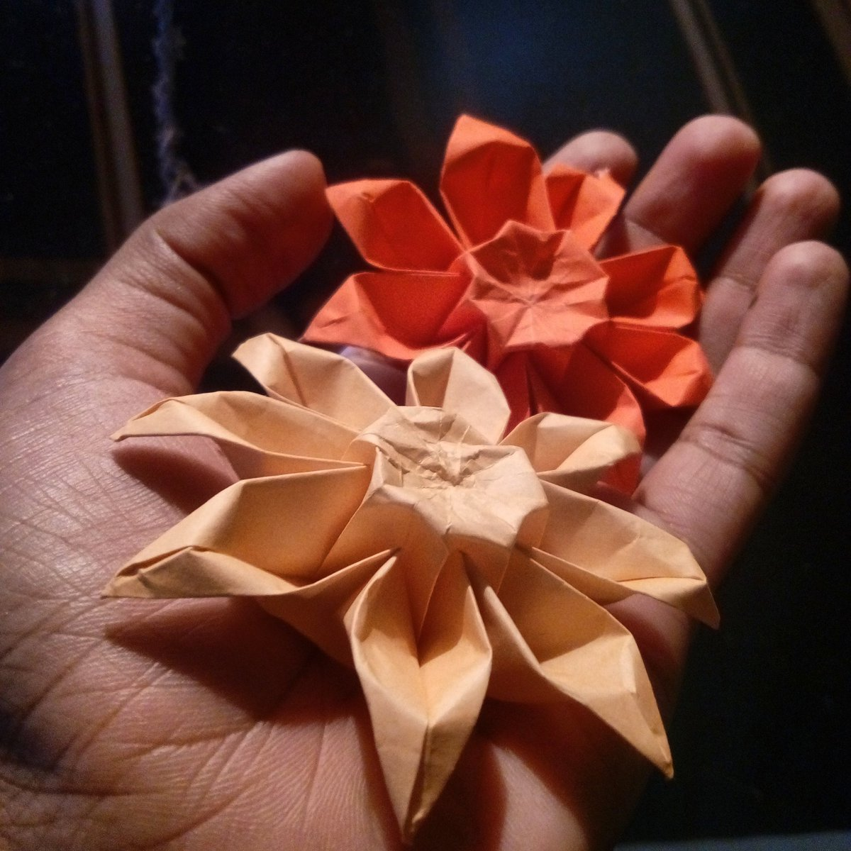 Heres A Bit Of Process For The Paper Craft Toran Decorative Door Hanging I Made Over Diwali Recently Started With These Intricate Origami Flowers
