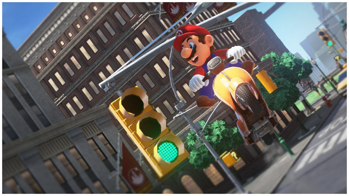Well, the light IS on green...   #SuperMarioOdyssey