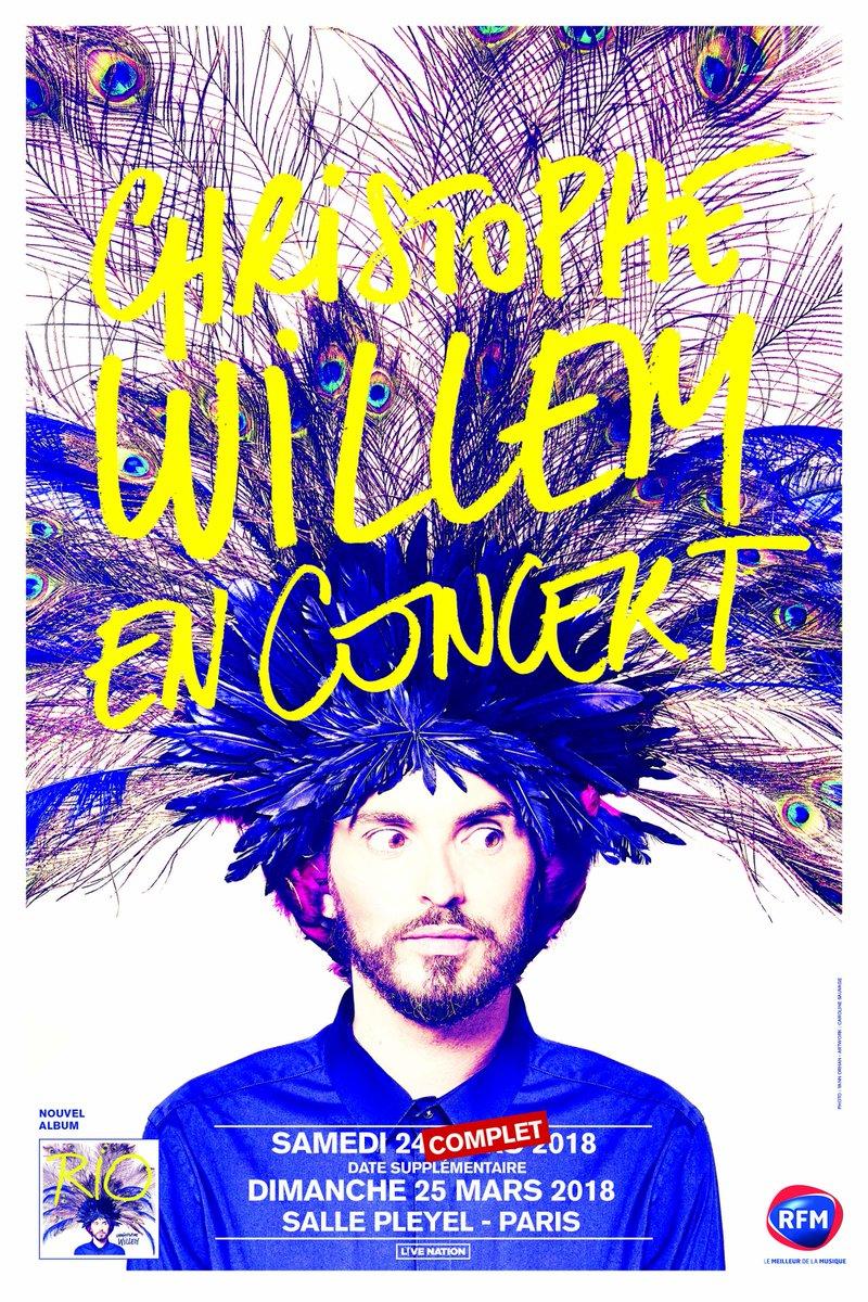 [ NOUVELLE DATE !! ] @cwillem le dimanche 25 mars à la #sallepleyel. Tickets disponibles dès maintenant sur notre billetterie > https://t.co/v4e1muKLiG Avec @LivenationFR  #paris #concert #live #sh